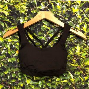   Lululemon   black sports bra. Size 2.